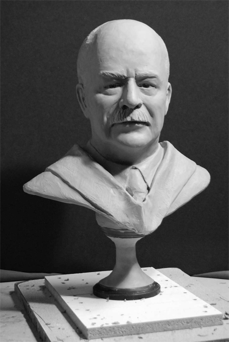 Sam Brooks bronze bust statue